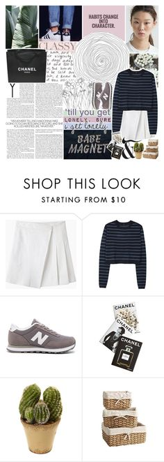 """the nights we won't remember"" by vogue-galaxy ❤ liked on Polyvore featuring Kenzie, Chanel, rag & bone, TIBI, New Balance, Assouline Publishing, Nearly Natural and Pier 1 Imports"