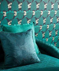 Throw Pillows, Bed, Fabric, Ideas, Tejido, Toss Pillows, Tela, Cushions, Stream Bed