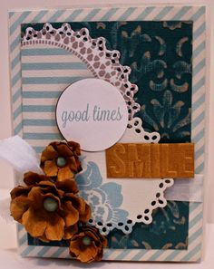 Scrapbook Flair: Smile Card with Core'dinations and Crafwell eBosse...