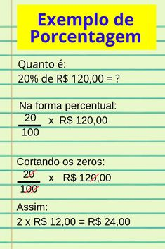 Como fazer conta de porcentagem – passo a passo Maths Solutions, Study Organization, Lettering Tutorial, Study Inspiration, Study Notes, Study Motivation, Student Life, Study Tips, Algebra