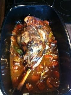 French lamb slowly cooked with vegetables