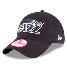 Utah Jazz New Era Women's Team Glisten 9TWENTY Adjustable Hat - Navy