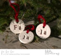 Natural Salt Dough Christmas Tree Ornaments . by BBHCreations