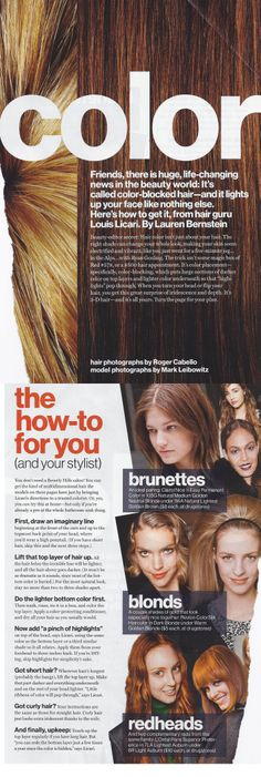 How to dye hair for a natural two-toned effect