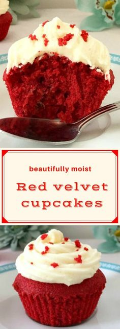 Moist red velvet cupcakes recipe with vanilla buttercream, a rich and luxurious dessert for those special days like Christmas or Valentine's Day. Learn how to get a bright red colour and make the best vanilla buttercream, so you can have perfect cupcakes every single time. #redvelvetcupcakes, #vanillabuttercream, #christmasdesserts, #valentinedaydesserts