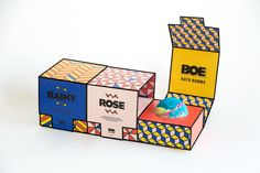 A fun branding + packaging project for a bath bomb company.