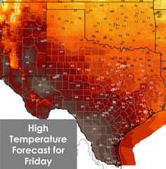 We're ending September just about the way we started it - unseasonably hot and dry. The good news is a cold front will arrive Thursday Night and on Friday bringing much drier air to nearly all of Texas. Some folks will also get a decent cool off in time for the weekend. I think y'all are going to like this forecast!!!!  http://texasstormchasers.com/?p=40069
