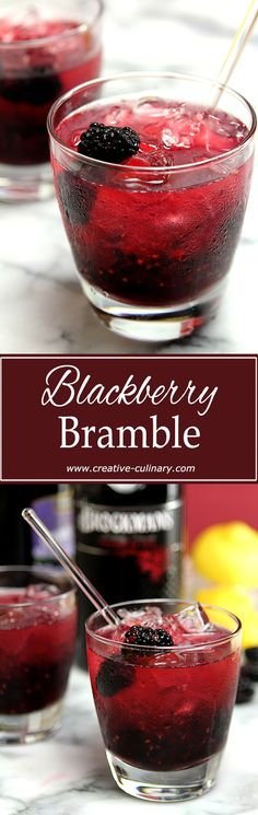 Yes there are more than Gin and Tonic cocktails that are fabulous with with Gin! Try this Blackberry Bramble; it's a summer favorite.