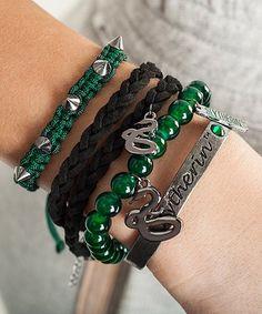 Loving this Harry Potter Slytherin Bracelet Set on #zulily! #zulilyfinds