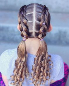 Braided Hairstyle、Children、Kids、For School、Little Girls、Children's Hairstyles、For Long Hair;Cute Chi Kids Curly Hairstyles, Baby Girl Hairstyles, Box Braids Hairstyles, Children Hairstyles, Hairdos, Hairstyle For Kids, Hairstyle Ideas, Glam Hairstyles, Cute Hairstyles Updos
