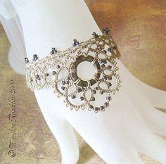 """""""Beguile"""" bracelet by yarnplayer, via Flickr"""
