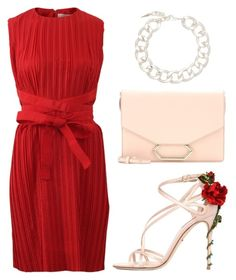 SPLURGE: DOLCE & GABBANA Keira Roses On Silk Satin Sandals by goldiloxx on Polyvore featuring moda, Victoria, Victoria Beckham, Dolce&Gabbana, Victoria Beckham and Fallon