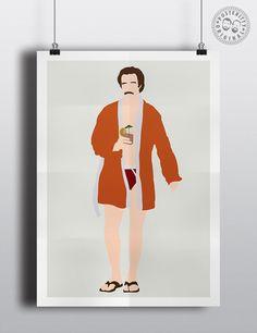 #minimalist #poster #posteritty #art #original #hair #movie #anchorman #ronburgundy