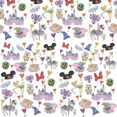 Disneyland Day Dream Doodles fabric by kathrynrose on Spoonflower - custom fabric