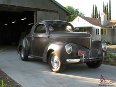 Willys+Cars | 1940 Willys Coupe, all steel, rare original, SCTA,unrestored,gasser ...