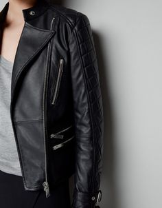 BIKER JACKET WITH BUCKLES - Jackets - Woman - New collection - ZARA