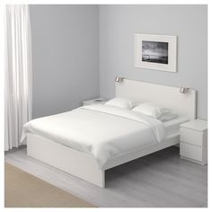 IKEA - MALM Bed frame, high white, Luröy