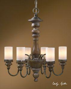 Uttermost Torreano 6 Light Wooden Chandelier 599