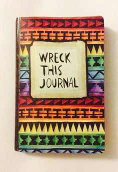 Wreck this journal cover by me