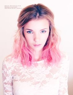 pink dip dye, I wanna do something like this to my hair!