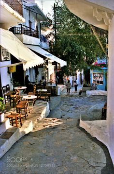 Alley in Skyros island, Sporades, west Aegean sea, Greece by Zorba The Greek, Skiathos, City Architecture, Greek Islands, Island Life, Atlantis, Beautiful Pictures, Scenery, Mamma Mia