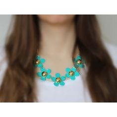 Náhrdelník Spring Mint Daisies   Womanology.sk Daisies, Turquoise Necklace, Chokers, Mint, Spring, How To Make, Accessories, Jewelry, Fashion