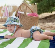 Definitely need for the beach, especially when you can personalize the diaper cover ;)