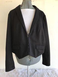 27b6fdf5ed46d Torrid Womens Short Blazer Jacket Black Size 3 Sparkle 3 Clasp Front LS   Torrid