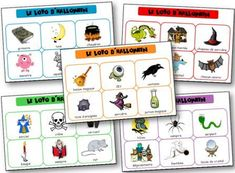 Halloween lotto to print to learn the lexicon related to the Halloween party, witch, ghost, vampire and other scary little beasts. Halloween lotto to print. Bingo Halloween, Diy Halloween, Google Halloween, Theme Halloween, Halloween Crafts For Kids, Halloween 2018, Happy Halloween, Kids Crafts, Pokemon Go