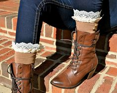 Black with black stretchy lace would be awesome with my black short lace up boots.....have to make this