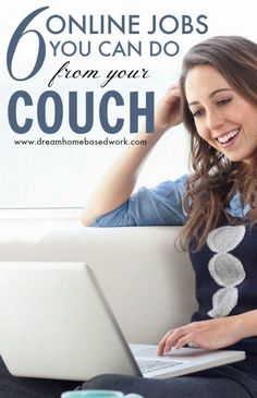 There are many high-paying work from home jobs online. Here are the best 6 online jobs for stay at home moms to make money from their couch. #moms #workfromhome #jobs #stayathome #highpaying #online Easy Online Jobs, Online Jobs From Home, Home Jobs, Online Work, Online Sites, Home Based Work, Work From Home Tips, Stay At Home Mom, Earn Money From Home