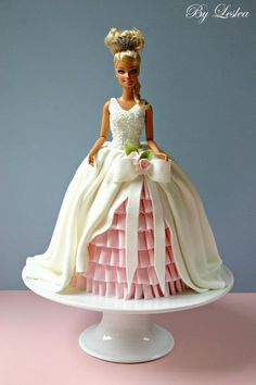 barbie cake by Leslea Matsis Cakes.....im not much of a doll cake person...but this has me sold