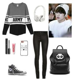 """army"" by kpop200 on Polyvore featuring Converse, Beats by Dr. Dre, Chanel, Lancôme, Freddy and Casetify"