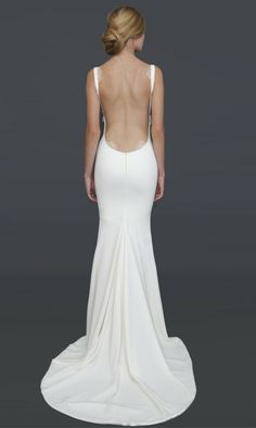 Katie May Bridal Collection Low Backless Wedding Dresses Used Wedding Dresses, Bridal Dresses, Gown Wedding, Backless Wedding Gowns, Prom Dresses, Plain Wedding Dress, Wedding Dress Backs, Simple Wedding Gowns, Backless Dresses