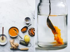 ginger and turmeric honey bomb.