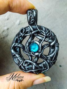 Gothic amulet fantasy pendant witch pendant dark by MelianArt