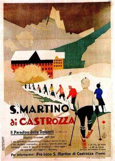 Manifesto pubblicitario (1927)  San Martino di Castrozza #Trentino