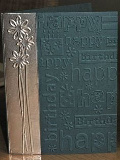 embossing with foil duct tape