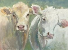 "Daily Paintworks - ""Young love"" - Original Fine Art for Sale - © Carol Carmichael Farm Art, Knife Art, Cow Art, Young Love, Fine Art Gallery, Animal Paintings, Painting Inspiration, Art For Sale, Watercolor Paintings"