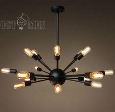 Westmenlights Black Vintage Industrial Sputnik Globe Pendant Ceiling L – westmenlights--Edison industrial lighting supplier and designer
