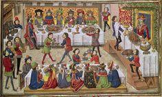 中世の食事 (2) 宴会でのテーブルの配置 - エスカルゴの国から