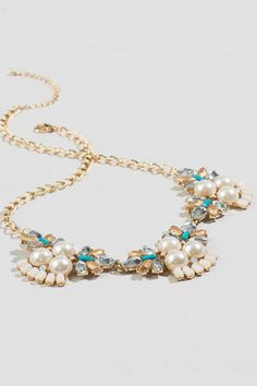 Audrina Pearl Statement Necklace