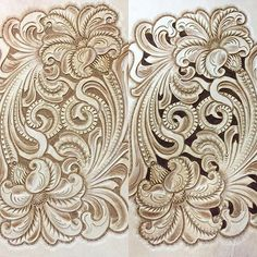 #handmade #leathercraft #leathercarving #leathertooling #レザークラフト #レザーカービング#唐草