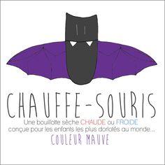 Chauffe-Souris MAUVE Bouillotte sèche conçue pour par FAscinante