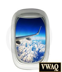 """Airplane Window Decal, Aerial View Aviation Wall Decor (Peel and Stick) 14""""H X 10""""W Admire the Beautiful view from your very own Airplane Window View Item consists of full color Airplane Porthole Wind"""