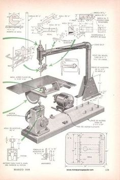 Mi Mecánica Popular - imgcientocuarenta2/sierra de vaiven bloque motor marzo 1954-03g