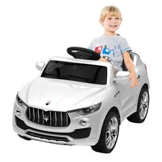 de5cb5dd19b8a Costway 6V Licensed Maserati Kids Ride On Car RC Remote Control Opening  Doors MP3 Swing White