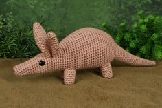 Aardvark amigurumi crochet pattern by PlanetJune