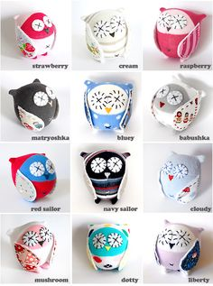 lovely sock owls!! - I need to try making some of these!