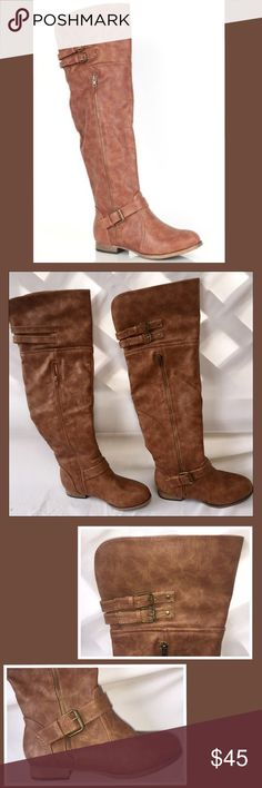 👢NWOB Deb Over The Knee Boots👢 Never been worn over the knee boots in a beautiful shade of brown. They have zippers on both sides but only the inner zipper works. The outer zipper is merely for looks. Gorgeous boots! Deb Shoes Over the Knee Boots